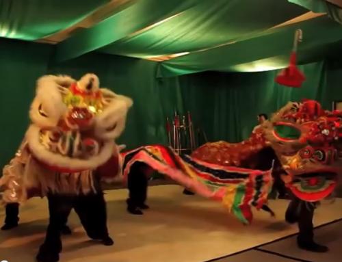Löwentanz zum 35. Jubiläum der KungFu Schule